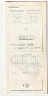 Carte Topographique De Belgique 1:25000  - 62/ 1 - 2    MACQUENOISE -  FORGE-PHILIPPE   - Relevé 1985 - Topographical Maps