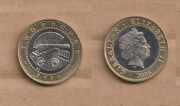 GIBRALTAR  2 Pounds - 2003 Bimetallic 12 G • ⌀ 28.4 Mm KM# 1043 - Gibraltar