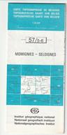 Carte Topographique De Belgique 1:25000  - 57/ 5 - 6    MOMIGNIES -  SELOIGNES   - Relevé 1984 - Topographical Maps