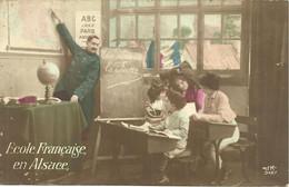 CPA MILITARIA PATRIOTIQUE / ECOLE FRANCAISE EN ALSACE - Patriotic