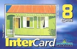CARTE-PREPAYEE-8€-DAUPHIN -TELECOM-DOM-ST MARTIN-CASE AGREMENT-10000ex-TBE-RARE - Prepaid Cards: Other