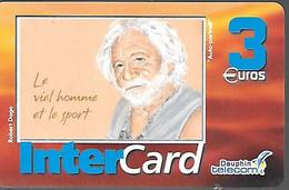 CARTE-PREPAYEE-3€-DAUPHIN -TELECOM-DOM-ST MARTIN-LeViel Homme Et Le Sport/Tableau R.Dago-50000ex-TBE-RARE - Prepaid Cards: Other