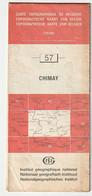 Carte Topographique De Belgique 1:50000  - 57 -    CHIMAY   - Relevé 1984 - Topographical Maps