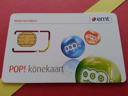 ESTONIE SIM GSM Emt Pop - With Numbers USIM RARE MINT (BH1219b5 - Estonia