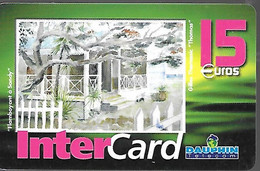 CARTE-PREPAYEE-15€;-DAUPHIN -TELECOM-DOM-ST MARTIN-Flamboyant A Sandy-3000ex-TBE-RARE - Prepaid Cards: Other