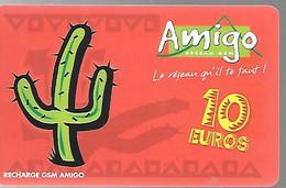 CARTE-PREPAYEE-ANTILLES ST MARTIN-GSM-AMIGO-10€-10000Ex-Gratté-TBE-RARE - Cellphone Cards (refills)
