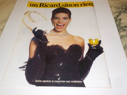 ANCIENNE  PUBLICITE UN RICARD SINON RIEN  1988 - Alcohols