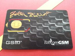 LATVIA SIM GSM BALT Com Zelta  - With Numbers USIM RARE MINT (BH1219b5 - Latvia