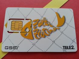 LATVIA SIM GSM TELE 2 Zelta   - With Numbers USIM RARE MINT (BH1219b5 - Latvia