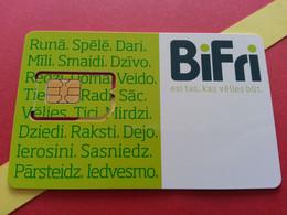 LATVIA SIM GSM Bite  Bifri  - With Numbers USIM RARE MINT (BH1219b5 - Latvia
