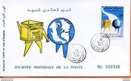 """Maroc,FDC, 1er Jour 1993,TP N°1148 """" Journée Mondiale De La Poste """"Morocco,Marruecos - Maroc (1956-...)"""
