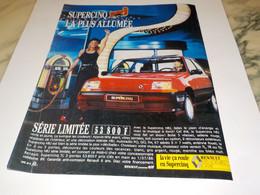 ANCIENNE  PUBLICITE VOITURE SUPERCINQ NRJ DE RENAULT 1988 - Automobili