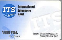 CARTE-PREPAYEE-ESPAGNE-ITS-1000Pts-30/06/2001-Plastic Epais-Gratté-TBE - Other