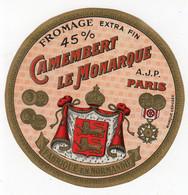 Mai21 75013    étiquette  Camembert  Le Monarque - Cheese