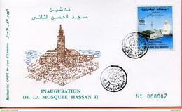"Maroc;FDC 1er Jour;1993; TP N°1146 "" Inauguration De La Mosquée Hassan II ; Casablanca  ""Morocco,Marruecos - Maroc (1956-...)"