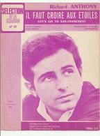 RICHARD ANTHONY Partition IL FAUT CROIRE AUX ETOILES De CARTER-LEWIS En 1968 - Scores & Partitions