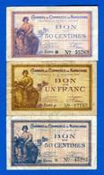 Narbonne  3  Billets - Chambre De Commerce