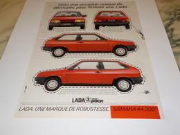 ANCIENNE   PUBLICITE SAMARA DE LADA 1988 - Automobili