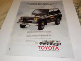 PUBLICITE  VOITURE TOYOTA LAND CRUISER  1988 - Automobili