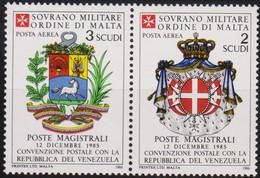 Sovrano Militare Ordine Di Malta - S.M.O.M. Aerea 1986 UnN°21 2v MNH/** (vedere Scansione) - Malte (Ordre De)