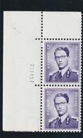 Boudewijn Bril Nr. 1029 - 5 Fr. Postfris Xx - Drukdatum 23.IX.57 - 1953-1972 Anteojos