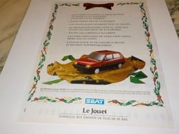 PUBLICITE  VOITURE LE JOUET VOITURE SEAT 1988 - Automobili