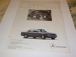 PUBLICITE  L OEIL DE L ARCHITECTE MERCEDES CLASSE A 1988 - Automobili