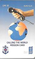 CARTE-PREPAYEE-ALLEMANDE-10DM/5,11€-Mission CARD-MARINE-Grattée-Plastic Epais-TBE/RARE - Boats