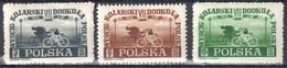 Poland 1948 - Bicycle Tour Of Poland - Mi 487-89 - MNH(**) - Nuovi