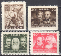 Poland 1948 -100th Anniversary Of The Revolution 1848 - Mi 407-500 - MNH(**) - Nuovi