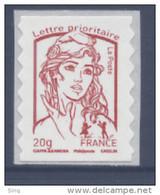 N° 851 Marianne Adhésif Rouge Année 2013, Valeur Faciale 20 G - Luchtpost