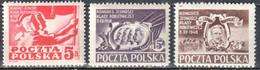 Poland 1948 Working Class Party Congress - Mi 505-07 - MNH(**) - Nuovi