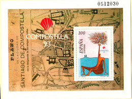 Spain 1993 Compostella City Map And Painting Eugenio Granet Block Issue MNH 2105.1089 - 1991-00 Nuevos & Fijasellos