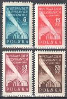 Poland 1948 Philatelic Exhibition - Mi 493-96 - MNH(**) - Nuovi
