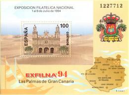 Spain 1994 Cathedral Las Palmas De Gran Cararia, Block Issue MNH 2105.1091 Exfilna'94 - 1991-00 Nuevos & Fijasellos