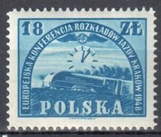 Poland 1948 - European Railway Scheduling Conference - Mi 504 - MNH(**) - Nuovi