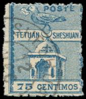 MAROC Postes Locales -   151 : Tetuan à Sheshuan, 75c. Bleu, Obl., TB. J Cote : 450 - Non Classificati