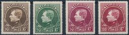 [** SUP] N° 289/92, Les 4 Valeurs Tirage De Paris Sur Papier Blanc - Cote: 800€ - 1929-1941 Groot Montenez