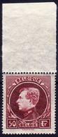 [** TB] N° 291D, 50F Lie De Vin Rosé, Une Bonne Nuance Bdf. Certificat Photo Soeteman - Cote: 385€ - 1929-1941 Groot Montenez