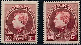 [** SUP] N° 292A/92B, 100F Carmin - Les 2 Nuances - Cote: 85€ - 1929-1941 Groot Montenez