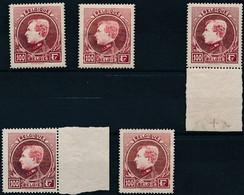 [** SUP] N° 292A/92F, 100F Carmin - Lot De Nuances Et Sous Nuances (292A 3x Et 292B 2x) - Cote: 205€ - 1929-1941 Groot Montenez