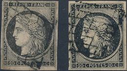 [O SUP] N° 3+3a, 10c Noir Sur Jaune Et Sur Blanc. Bien Margés - Cote: 135€ - 1849-1850 Ceres