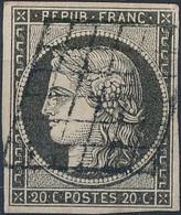 [O SUP] N° 3c, 10c Gris-noir, Bien Margé Et Signé Calves - Cote: 520€ - 1849-1850 Ceres