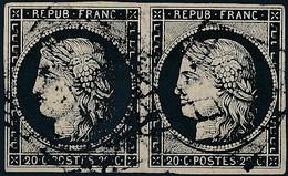 [O TB] N° 3a, Belle Paire Bien Margée. Très Frais - Cote: 150€ - 1849-1850 Ceres