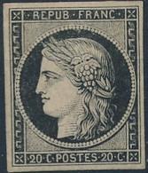 [* SUP] N° 3f, La Réimpression De 1862. Bien Margé Et Superbe - Cote: 500€ - 1849-1850 Ceres
