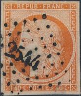 [O SUP] N° 5a, 40c Orange Vif Avec Belles Marges Et TB Obl 'PC2544' Port-a-Binson - Cote: 600€ - 1849-1850 Ceres