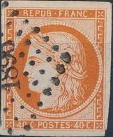 [O SUP] N° 5l, 40c Orange Pâle, Bien Margé - Superbe - Cote: 500€ - 1849-1850 Ceres