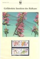 Serbien 2004 - WWF Gefährdete Insekten Des Balkans - Komplettes Kapitel Postfrisch MK FDC - Unclassified
