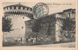 071 - Italia Italy - Bagnara Di Romagna  Il Castello - Written 1924 - Animation - Ed. Cremonini - VG Condition - 2 Scans - Other Cities