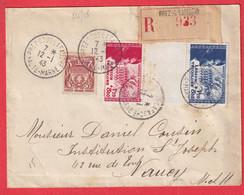 N°535 565 566 BANDE LEGION TRICOLORE PREZ SOUS LA FAUCHE HAUTE MARNE RECOMMANDE 1943 POUR NANCY - 1921-1960: Modern Period